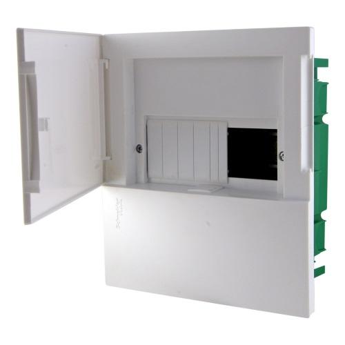 Боксы электротехнические встраиваемые Schneider Electric Mini Pragma с клеммником, белая непрозрачная дверь, IP40 цена