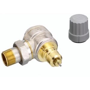 Клапан термостат., 1 тр. система без настройки, угловой, никел. латунь, RTD-G/RA-G цена
