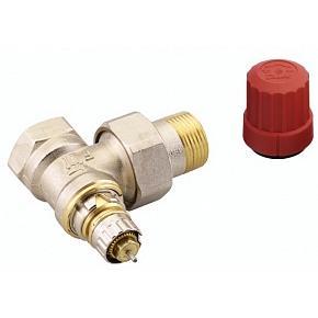 Клапан термостат., 2-х тр. система, с предв. настройкой, угловой, никел. латунь, RTD-N/RA-N цена