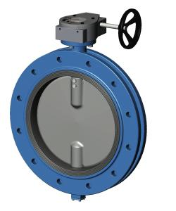 Затворы дисковые поворотные, фланцевые, чугун/нерж. сталь, редуктор, Tecofi VP3509 цена