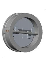 Обратный клапан межфланцевый, двухстворчатый, нерж.ст./нерж.ст., Tecofi CB 6442 цена