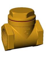 Обратный клапан муфтовый створчатый, бронза, Tecofi CB 2143 цена