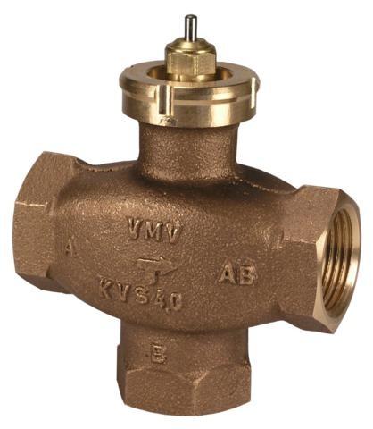 Клапаны регулирующие 3-х ходовые муфтовые под электропривод ABV, Danfoss VMV цена