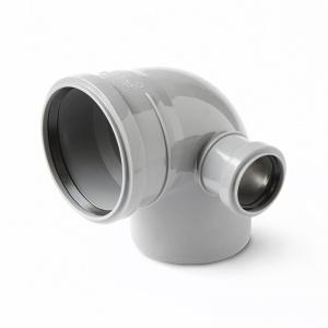 Отвод ПП серый, с выходом, левый цена