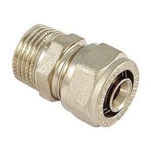 Обжимная муфта для металлопластиковых труб переходная - НР, латунь, Tiemme 1600, никелированная цена