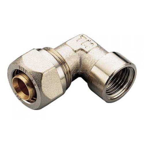 Обжим уголок 90 комбинированный - ВР для PEX труб, латунь цена