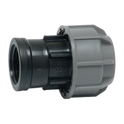 Муфта комбинированная - ВР для ПНД труб, пластик цена