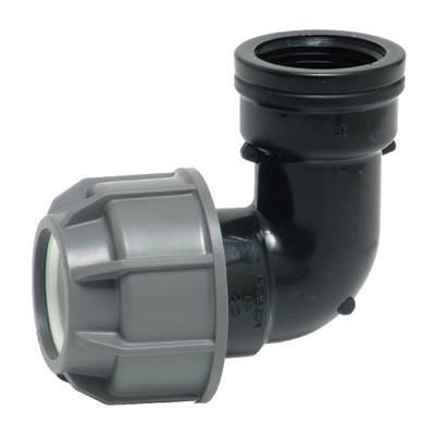Отвод 90' комбинированный - ВР для ПНД труб, пластик цена