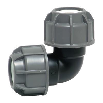 Отвод 90' для ПНД труб, пластик цена