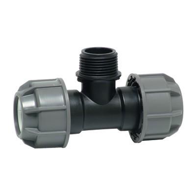 Тройник комбинированный - НР для ПНД труб, пластик цена