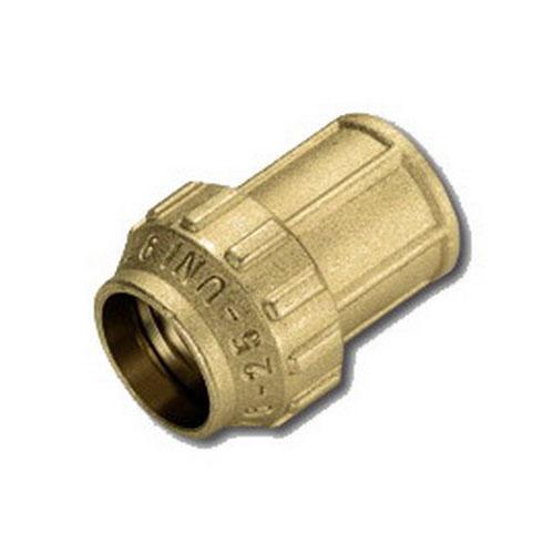 Муфта комбинированная - ВР для ПНД труб, латунь цена