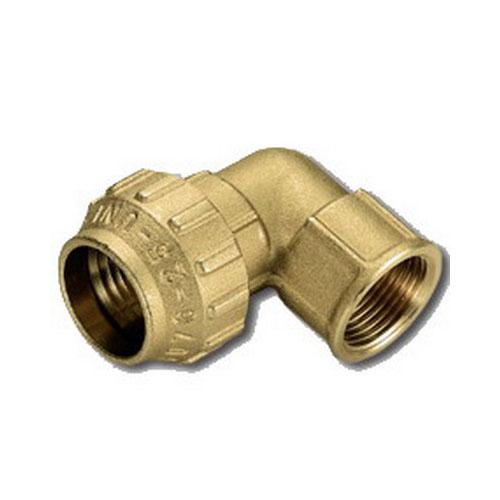 Отвод 90' комбинированный - ВР для ПНД труб, латунь цена