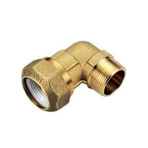 Отвод 90' комбинированный - НР для ПНД труб, латунь цена