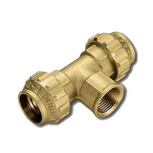 Тройник комбинированный - ВР для ПНД труб, латунь цена