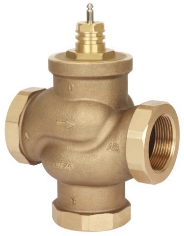Клапаны регулирующие 3-х ходовые муфтовые под электропривод Danfoss VRB3 цена
