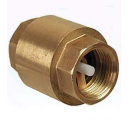 Обратный клапан муфтовый пружинный, латунь цена