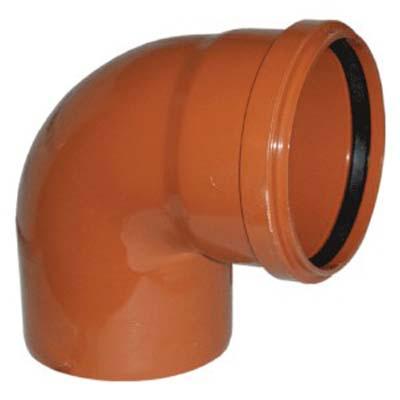 Отвод НПВХ для наружной канализации, 87° цена
