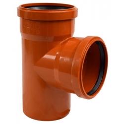 Тройник НПВХ для наружной канализации, 90° цена