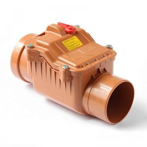 Обратный клапан НПВХ для наружной канализации цена