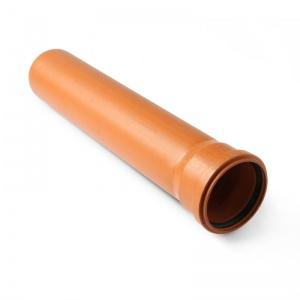 Труба НПВХ для наружной канализации, гладкая, однораструбная, 200 цена