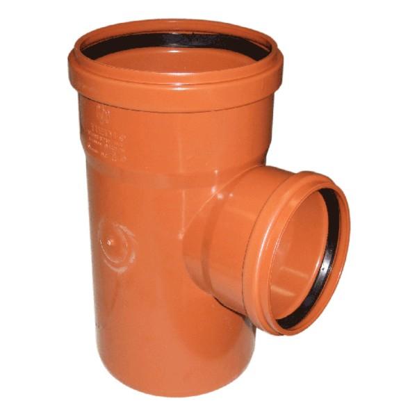 Тройник НПВХ для наружной канализации, 90°, переходной цена