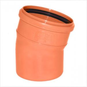 Отвод НПВХ для наружной канализации, 15° цена