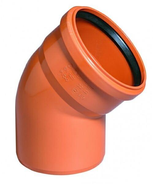 Отвод НПВХ для наружной канализации, 45° цена
