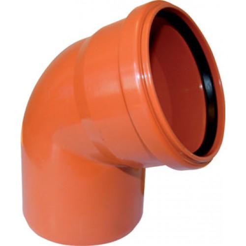 Отвод НПВХ для наружной канализации, 67° цена