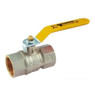 Кран шаровый газовый муфтовый ВР-ВР, с плоской ручкой,  Tiemme 2380G07 цена