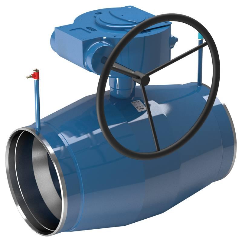 Кран шаровый запорно-регулирующий, приварной, с редуктором, стальной, NavalTrim цена