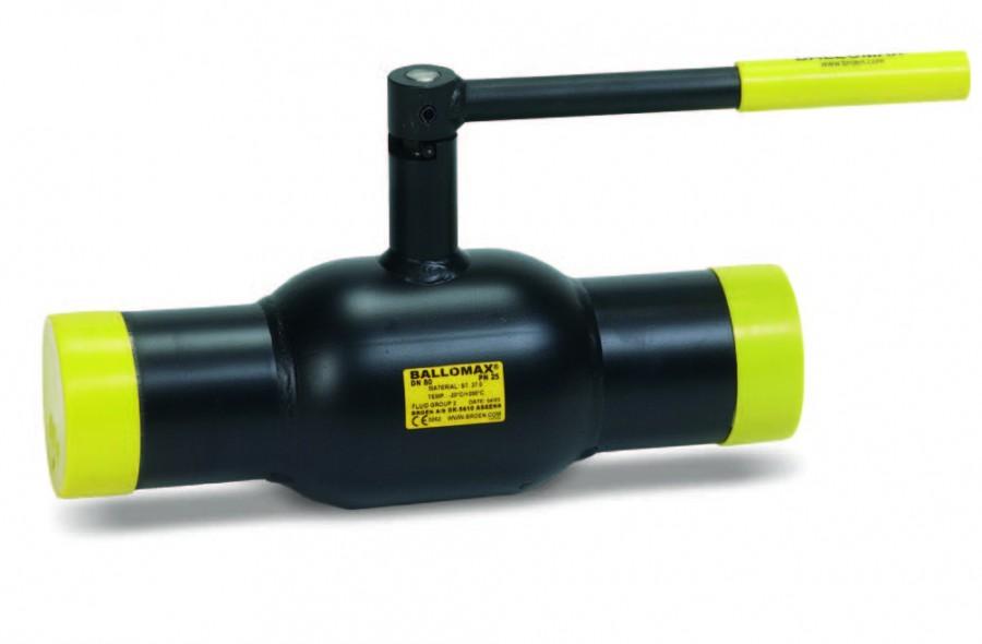 Кран шаровой стандартнопроходной, приварной, стальной, с ручкой, Broen 60.102 цена