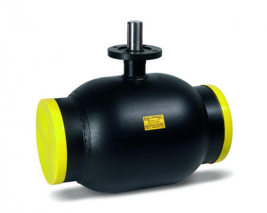 Кран шаровой стандартнопроходной, приварной, стальной, ручка/св. шток, Broen цена