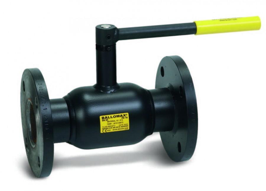 Кран шаровой стандартнопроходной, фланцевый, стальной, с ручкой, Broen 60.103 цена