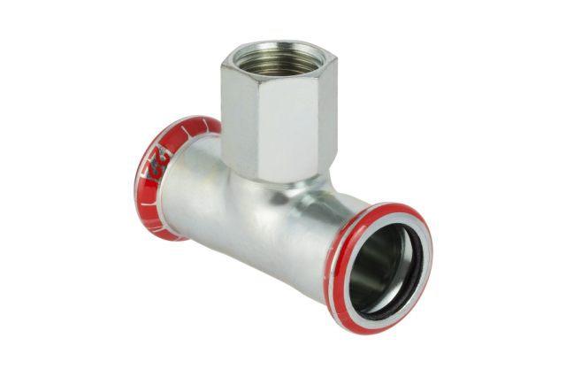 Тройник пресс/ВР для стальных тонкост. труб, оцинк. сталь цена