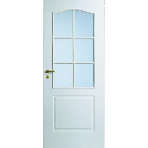 Дверь межкомнатная белая с арочной филенкой под 6 стекол Jeld-Wen N22 цена