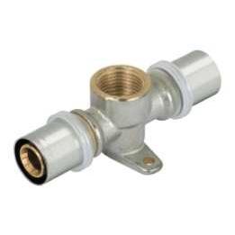 Пресс-водорозетка проходная для м/п труб, латунь цена