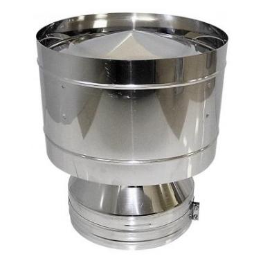 Дефлектор для двустенного (изолированного) дымохода, нерж. сталь цена
