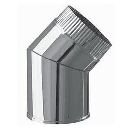 Отвод 45' для одностенного (неизолированного) дымохода, нерж. сталь цена