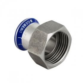Муфта пресс/накидная гайка для стальных тонкост. труб, нерж. сталь цена
