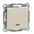 фото Выключатель рамочный 1 клавишный Schneider Electric M-TREND, бежевый, с индикацией, 10А, IP20, MTN3131-1344
