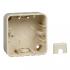 фото Коробка для открытого монтажа 1 пост Schneider Electric M-TREND, бежевый, MTN4014-1244