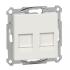 фото Розетка рамочная телефон + компьютер Schneider Electric M-TREND, белый, RJ11+RJ45 cat5e, MTN4566-1319